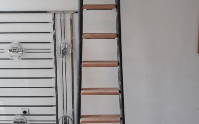 Terrace railing and a ladder for a client in Paris